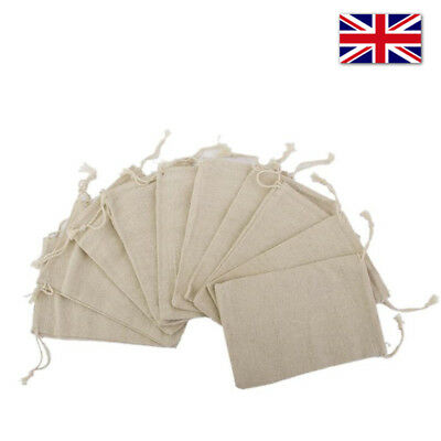 Jute Hessian Drawstring Gift Bag  Pouch Wedding Sacks Natural Linen Bags