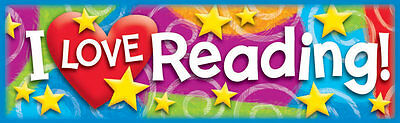 36 I LOVE Reading (Stars n Swirls) Kids Reward Bookmarks - Trend T12070