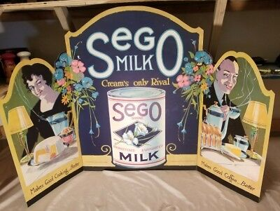 Vintage Sego Milk Fold-out Store Sign