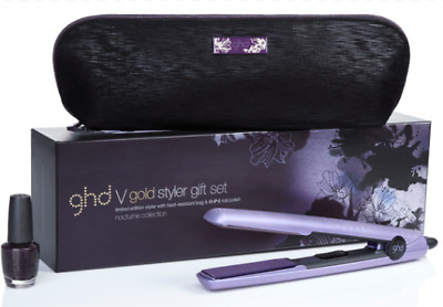 Genuine ghd Nocturne V Gold Styler & O-P-I nail polish LIMITED EDITION RRP £139