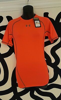 Brand New w/Tags Men's Under Armour Orange  Short Sleeved T-shirt size Small/P