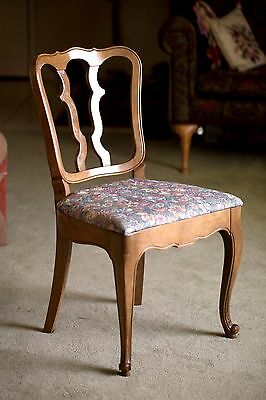 Drexel Vintage French Provincial Dining Side Chair, Upholstered, NICE!