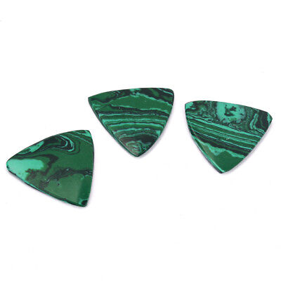 Set of 3 Malachite Stone Picks for Acoustic/Classical/Electric Guitar Bass