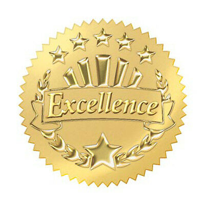 """32 TREND Gold Excellence Award certificate Seals Reward Stickers 2"""""""