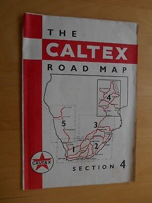 Caltex Road Map of Rhodesia & Nyasaland (Section 4) 18 x 13 ins/46 x 32 cms