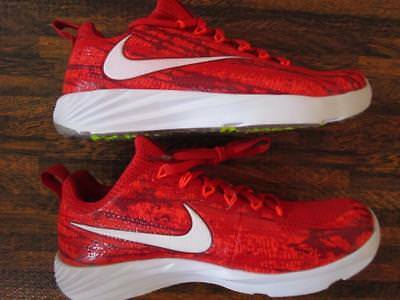 Nike Vapor Speed Trainer Turf Shoes Cleats Sz 6.5 Y Youth  Red White