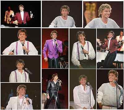 63 Barry Manilow colour concert photographs - Wembley 4th January 1986