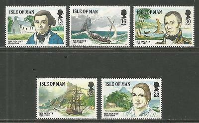 Isle of Man 1989 Bounty Mutiny 200th Anniv--Attractive Topical (389-93) MNH