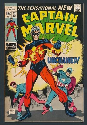 Marvel Comics Captain Marvel #17 1969 New Costume And Revamp - Solid Copy!!