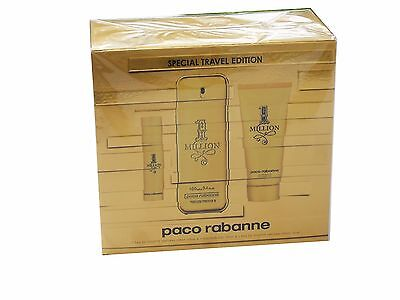 (71,50 €/Stück) SET PACO RABANNE 1 MILLION EDT 100ML + SHOWER GEL 100ML + EDT 10