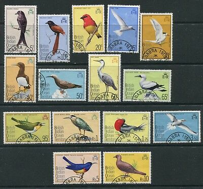 British Indian Ocean Territory: 1975 Birds set 15 stamps SG62-76 Fine Used AV188