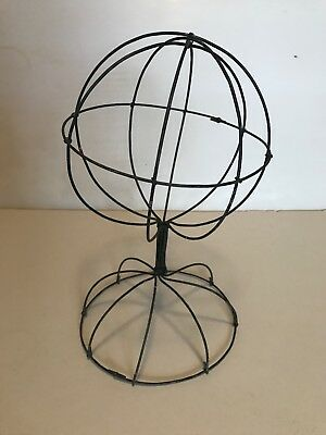 "Tabletop Wire Hat Wig Display Stand - 11"" Tall 6.25"" Diameter"
