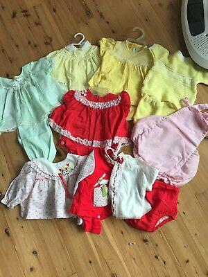 Vintage Newborn / Doll Baby Girl Lot Bloomers Tops 50's 60's Era