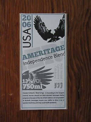 Ameritage Independence Blend 2006 ~New Wine Label Winery Vineyard Decal Sticker~