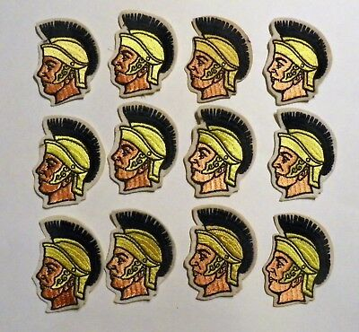 12 Vintage Gladiator Embroidered Patches