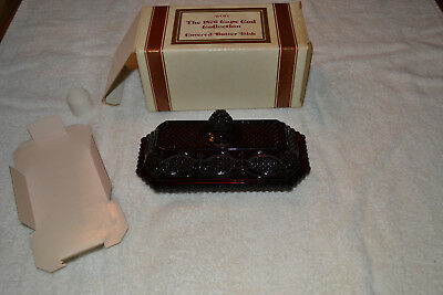 Vintage Avon Cape Cod Collection Covered Butter Dish Lot F
