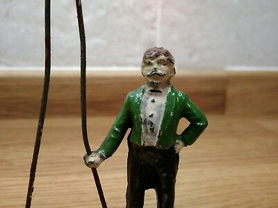 Charbens Rare Pre-War Vintage Lead Circus Ring Master With Whip