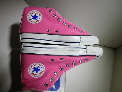 Vintage  MINT CONVERSE ALL STAR Chucks Made in THE USA Pink Hi size 8