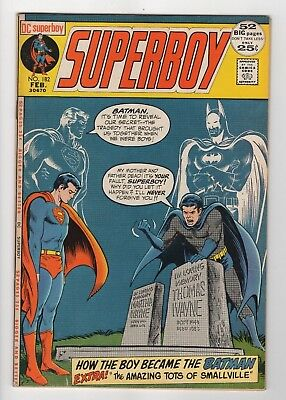 DC Comics Superboy #182 All New Origin Batman & Superman as Teenagers Bronze Age