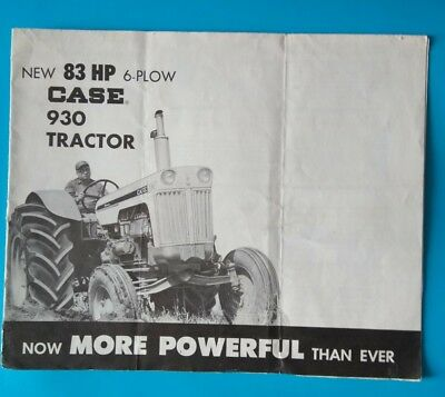 1960 Case 930 Comfort King 6-Plow Tractor Diesel LP-Gas Brochure poster