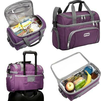 Original Flight Crew Cooler Bag With Dry And Cold Compartment One Size Eggplant