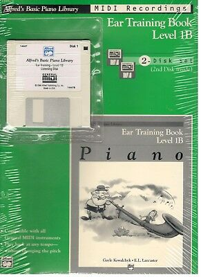 Keyboard & Piano Brand New Prep Course F Solo Book Background Accompaniment Floppy Midi Disk!