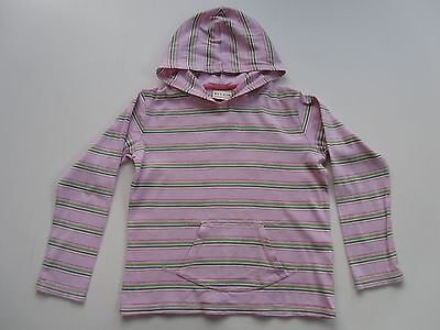 Girls NEXT Pink Striped Long Sleeve Hoodie age 9yrs