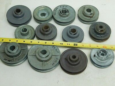 LOT OF 12! NEW CONGRESS BROWNING V-Belt Pulley Adjustable Width Various Sizes AP