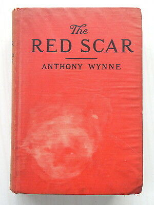 "1928 Antique Rare HTF Hardback Book ""The Red Scar"" Anthony Wynne"