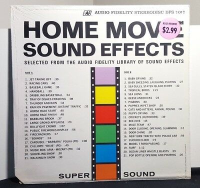 HOME MOVIE SOUND EFFECTS 1963 Audio Fidelity Stereodisc DFS