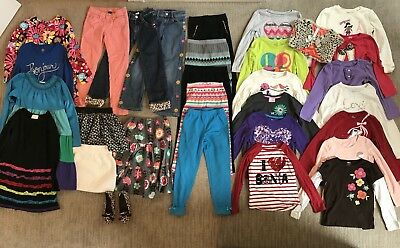 Huge Lot of 30 Girls Mix and Match Fall/Winter Clothes Size 7/8, Includes Shoes