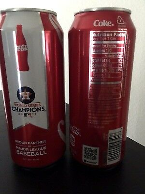 2 2017 Houston Astros World Series Champions Limited Edition Coke cans 16 oz