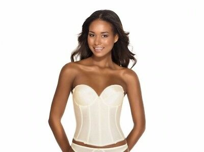 Dominique - RACHELLE, Style 7750, Low Back Satin Bustier, Bridal Bra Buster