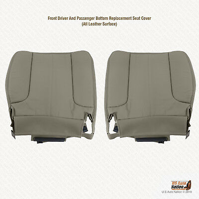 2004 2005 Dodge Ram 1500 SLT DRIVER & PASSENGER Bottom Leather Seat Cover Tan