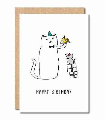 Funny Birthday Card Cats Mouse For Sister Mum Boyfriend Girlfriend Husband Wife