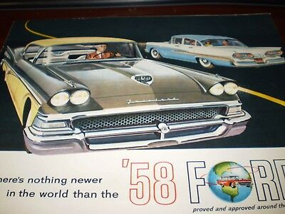 "Ford ""1958 Ford"" Cars Sales Brochure"