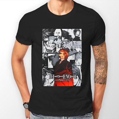 Death Note Kira Manga Strip Ryuk L Anime Unisex Tshirt T-Shirt Tee ALL SIZES