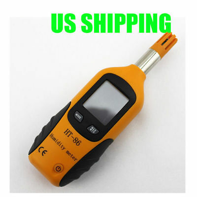 Mini Handheld LCD Digital Thermometer Hygrometer Gauge Humidity Temp Test Meter