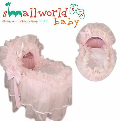 Personalised Girl Pink Filly Bling Romany Moses Basket Cover (NEXT DAY DISPATCH)
