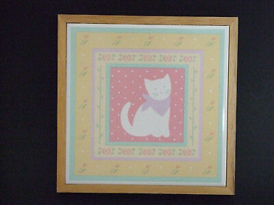 Special Gifts by Crowning Touch Cat Pastel Colors Tile Plaque