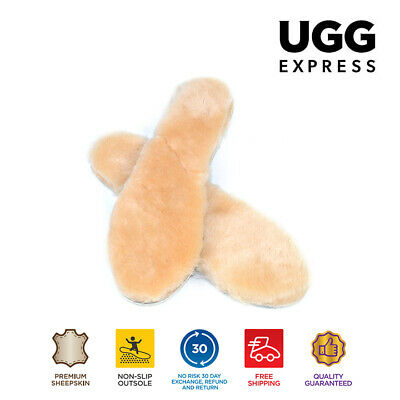 Ugg Thick Winter Insoles - Premium Australian Sheepskin Lambwools Warm & Comfy
