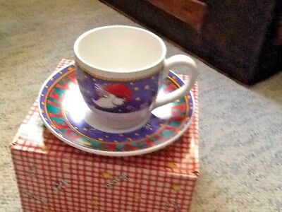 Mary Engelbreit ME Cup and Saucer Collection Christmas Believe Time for Tea