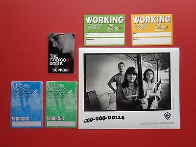 "GOO GOO DOLLS ,1 promo photo,5 ""OTTO"" Backstage passes,RARE Originals"