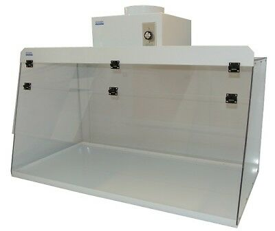"Cleatech  Clear Polycarbonate 48"" Ducted Fume Hood w/ worksurface and blower"