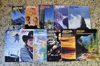 Arizona Highways Magazines 1983 7 Issues and 1984 4 Issues, Lot of 11 Magazines