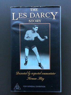 THE LES DARCY STORY Vintage Footage VHS Tape BOXING RARE