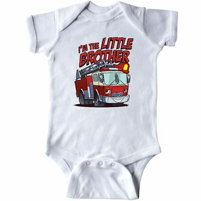 Inktastic Little Brother Fire Truck Infant Bodysuit Engine Im The Baby Gift