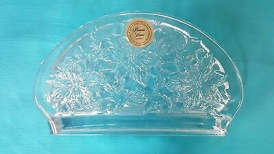 Vintage Lead Cystal 24% Napkin Holder Giftware - A Princess House Exclusive 518