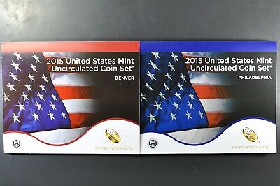 2015 P&D Uncirculated US Mint Set P&D 28 coins UN-OPENED MINT BOX