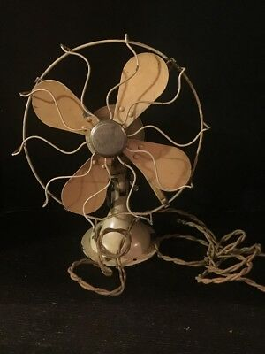 """Rare Vintage Westinghouse Oscillating Fan Yellow 11"""" Model 363329c Working"""